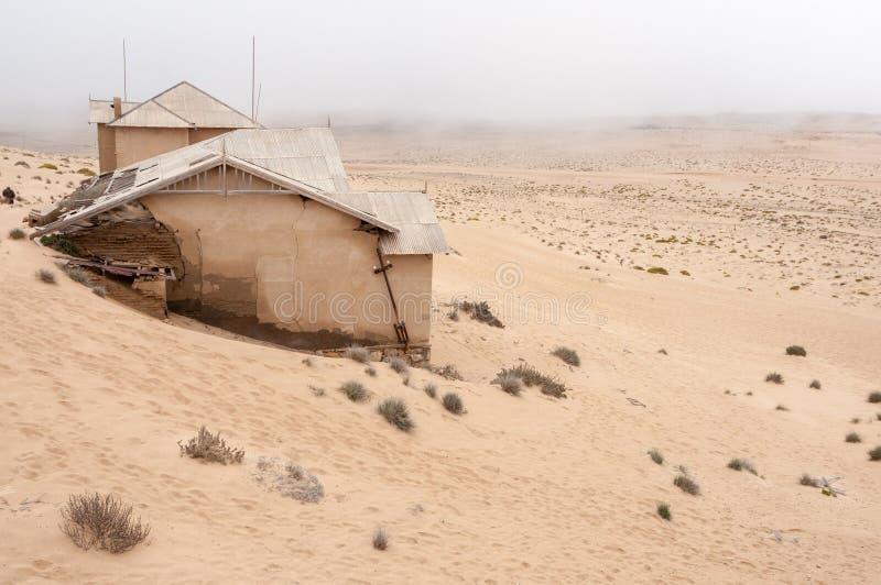 De bouw bij de spookstad van Kolmanskop stock afbeelding