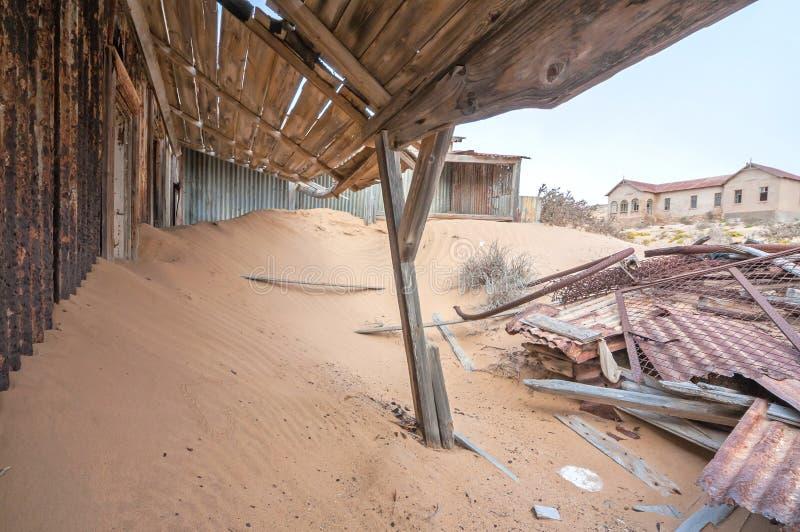 De bouw bij de spookstad van Kolmanskop royalty-vrije stock foto's
