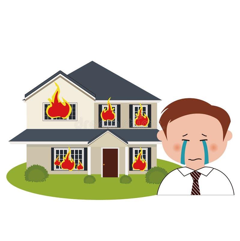 De bouw, brand stock illustratie