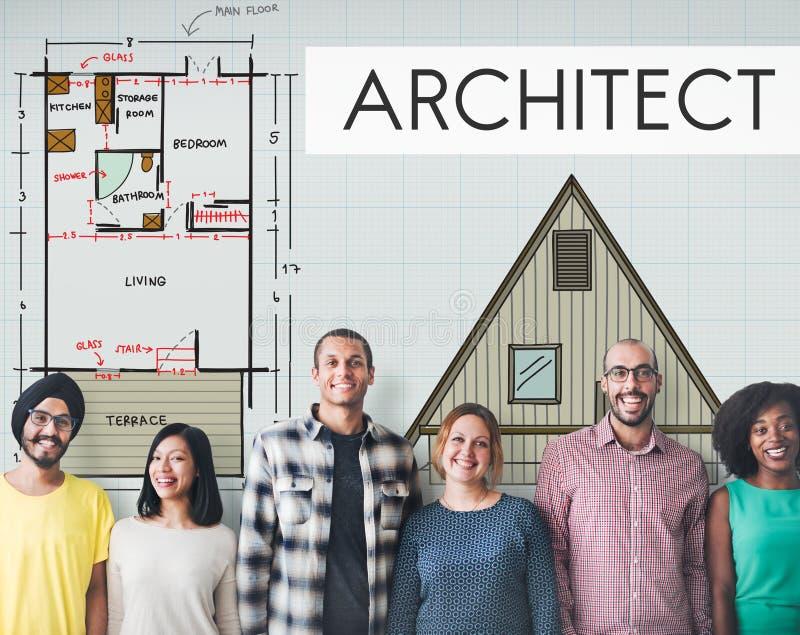 De Bouw Concep van architectenarchitecture design infrastructure royalty-vrije stock foto's