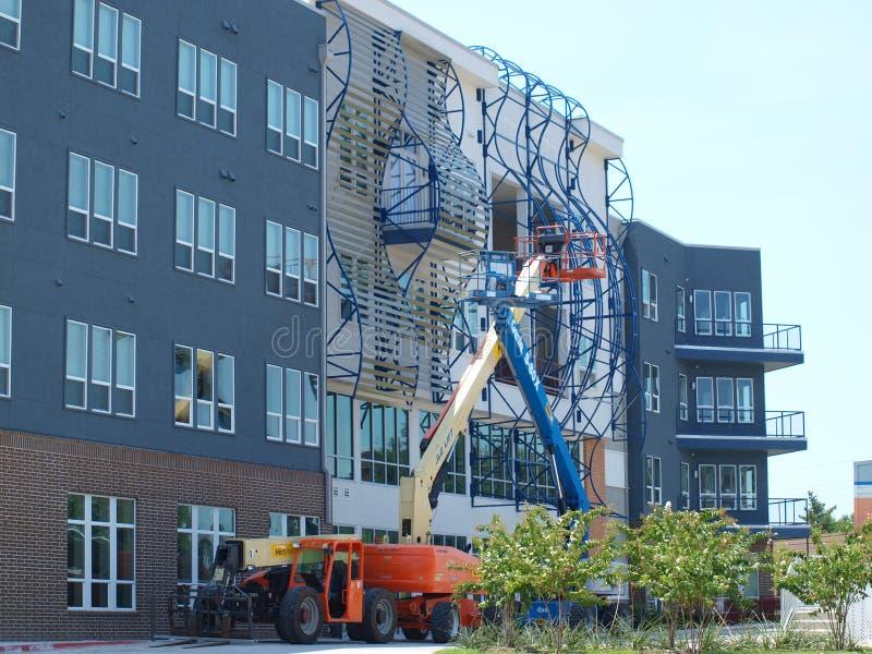 De bouw en Art Under Construction stock afbeeldingen