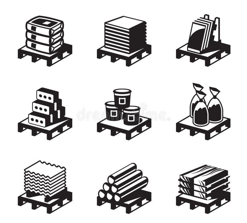 De bouw en bouwmaterialen stock illustratie