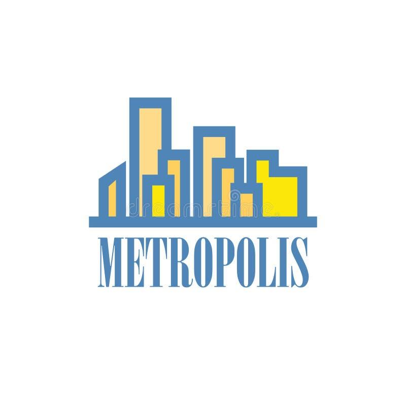 De bouw en stadsillustratie die Metropool symboliseren vector illustratie
