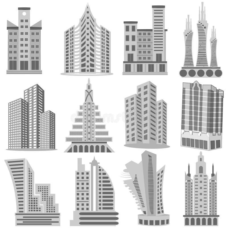 De bouw en Wolkenkrabber royalty-vrije illustratie