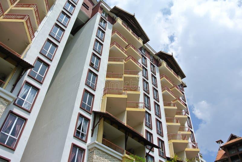 De bouw façade ontwerp met patroon en kleuren royalty-vrije stock foto's