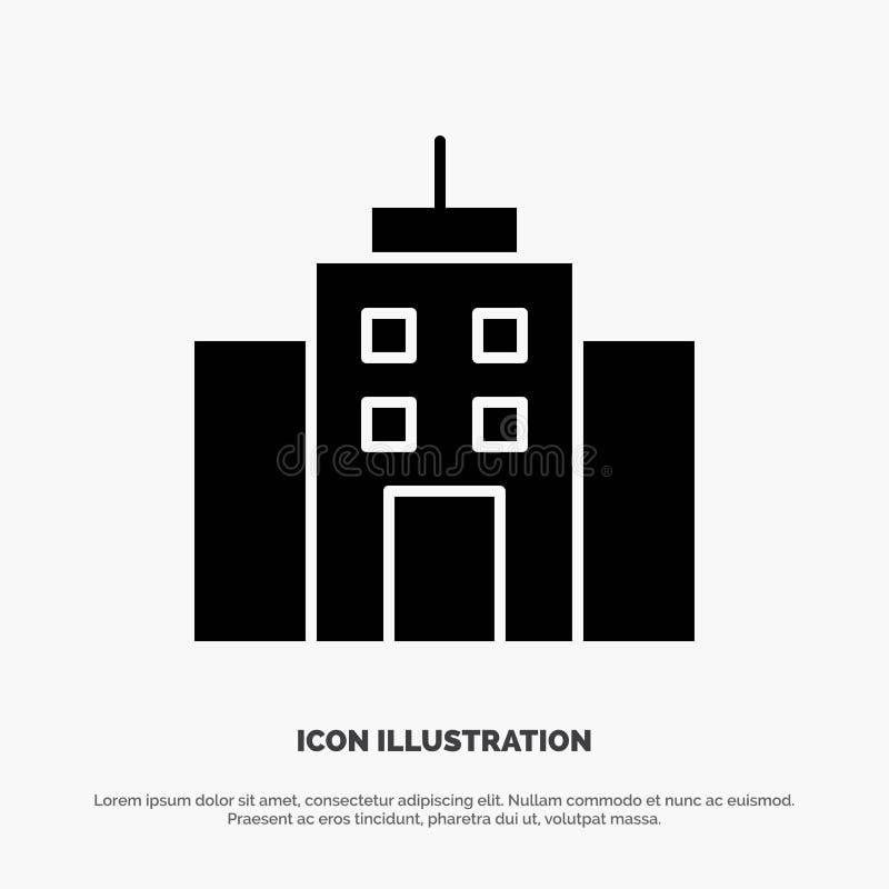 De bouw, Gebruiker, Bureau, het Pictogramvector van Interface stevige Glyph vector illustratie