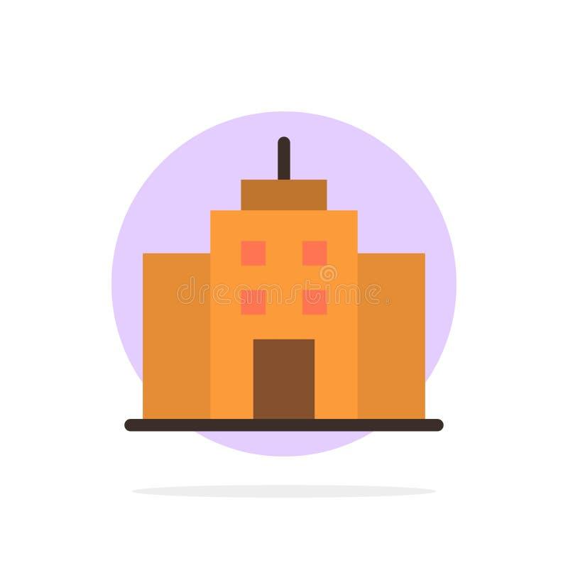De bouw, Gebruiker, Bureau, van de Achtergrond interface Abstract Cirkel Vlak kleurenpictogram vector illustratie