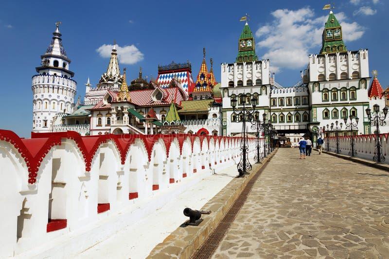 De bouw Izmailovo het Kremlin, Moskou, Rusland royalty-vrije stock afbeelding