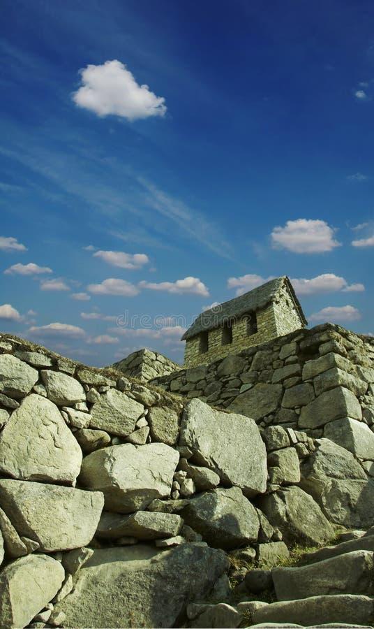 De bouw machu-Picchu royalty-vrije stock afbeeldingen