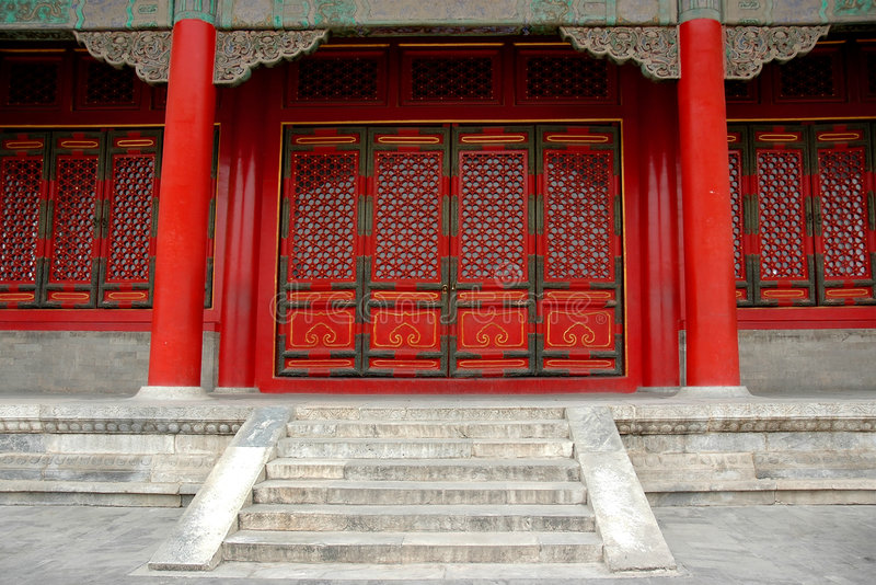 De bouw Ming en Qing van de dynastie royalty-vrije stock foto's