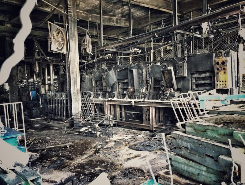 De bouw na brand stock fotografie