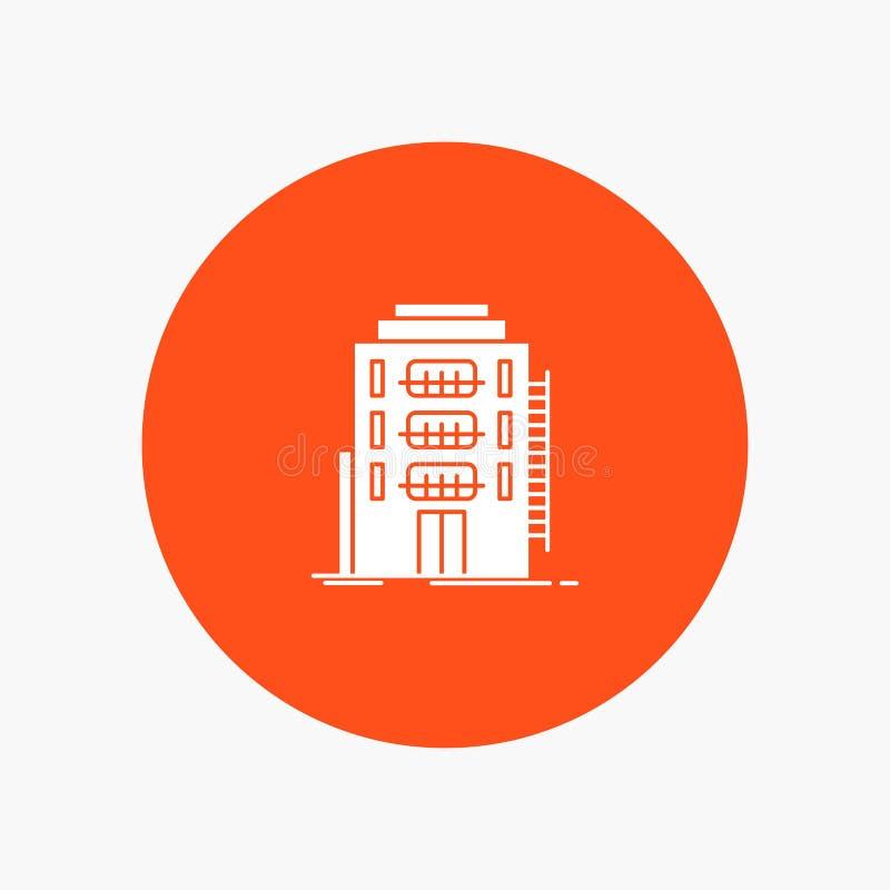 De bouw, Stad, Slaapzaal, Herberg, Hotel royalty-vrije illustratie