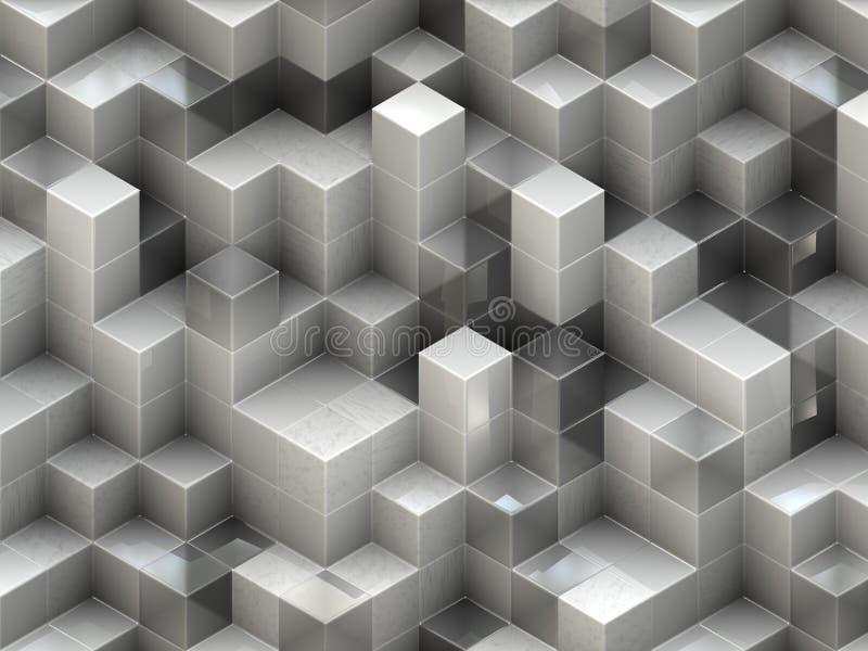 De bouw structuur van kubussen. Abstracte architectuurachtergronden vector illustratie