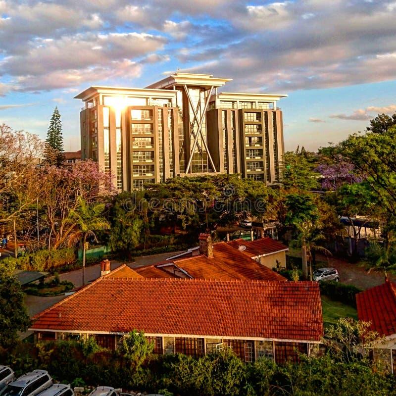 De bouw structuur in Westlands-Nairobi royalty-vrije stock foto