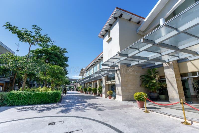 De bouw van Alabang-stadscentrum in de stad van Manilla royalty-vrije stock foto
