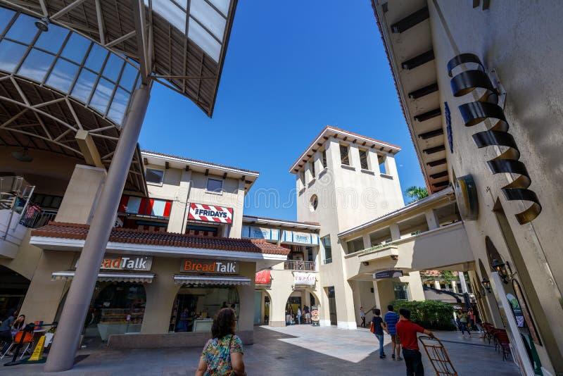 De bouw van Alabang-stadscentrum in de stad van Manilla stock foto's