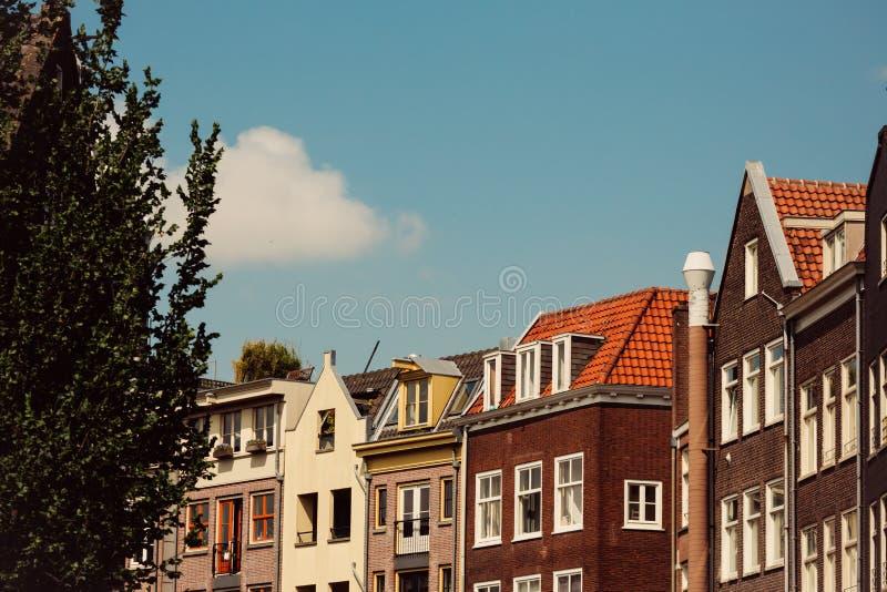 De bouw van Amsterdam, Nederland stock afbeelding