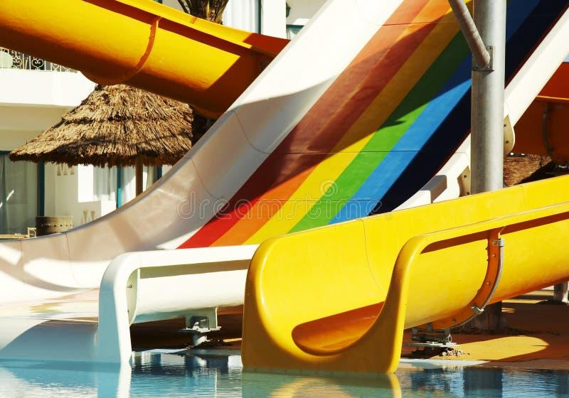 De bouw van Aquapark royalty-vrije stock afbeelding
