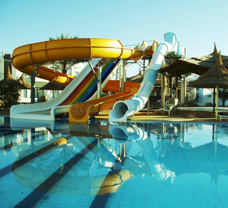 De bouw van Aquapark royalty-vrije stock foto