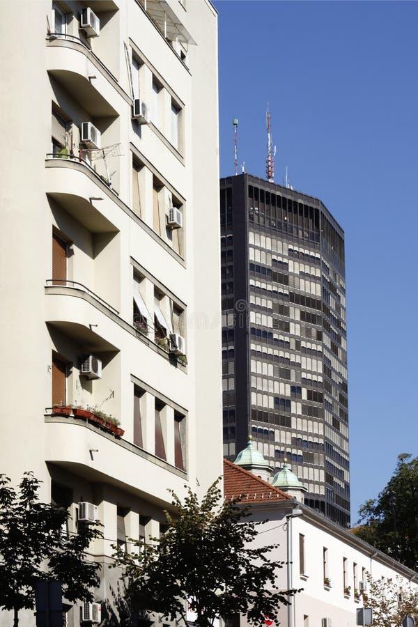 De Bouw van Belgrado - Beogradjanka-in Kralja Milana Street royalty-vrije stock afbeelding
