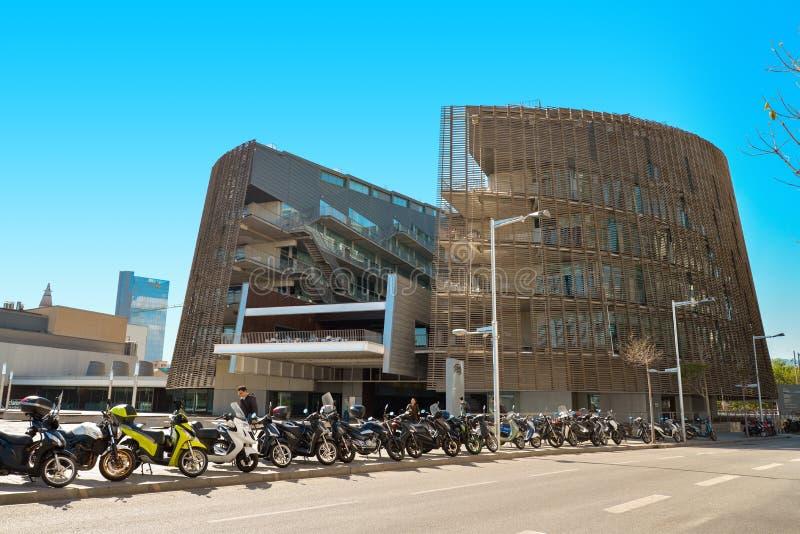 De bouw van Biomedisch Onderzoekpark stock afbeeldingen