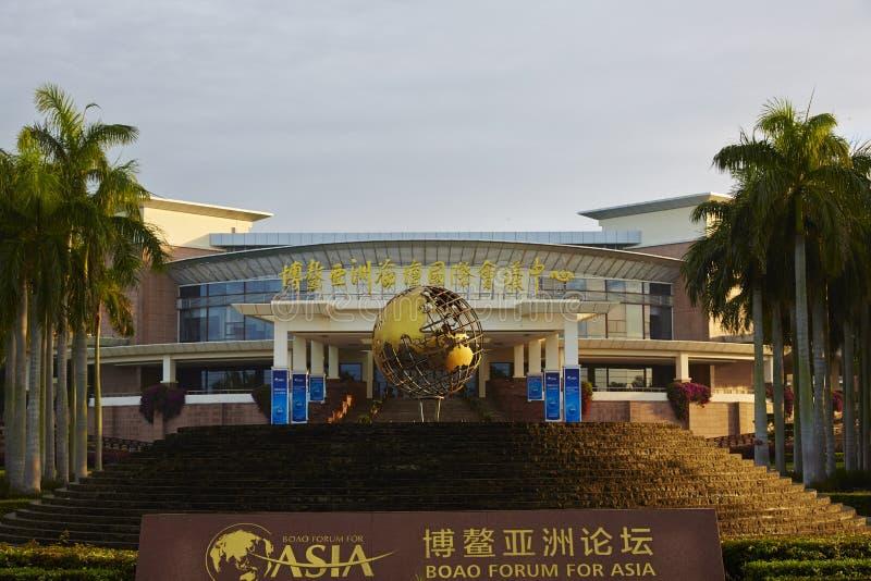 De bouw van Boao-Forum voor Azië, Hainan, China stock fotografie