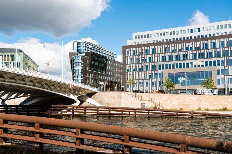 De bouw van Bundespressekonferenz in Berlijn stock afbeelding