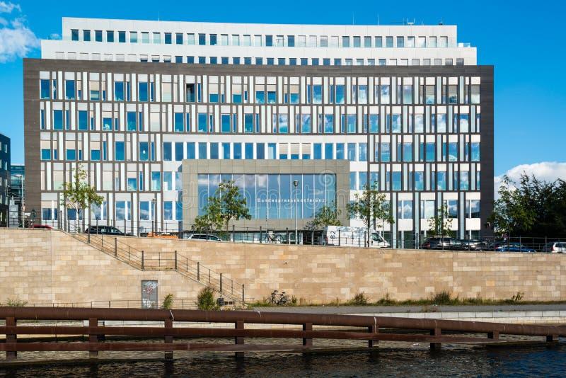 De bouw van Bundespressekonferenz in Berlijn stock foto