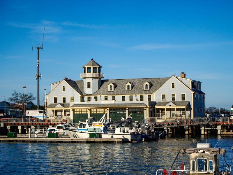 De bouw van Chicago Verenigde Staten - van Chicago Marine Safety Station royalty-vrije stock fotografie
