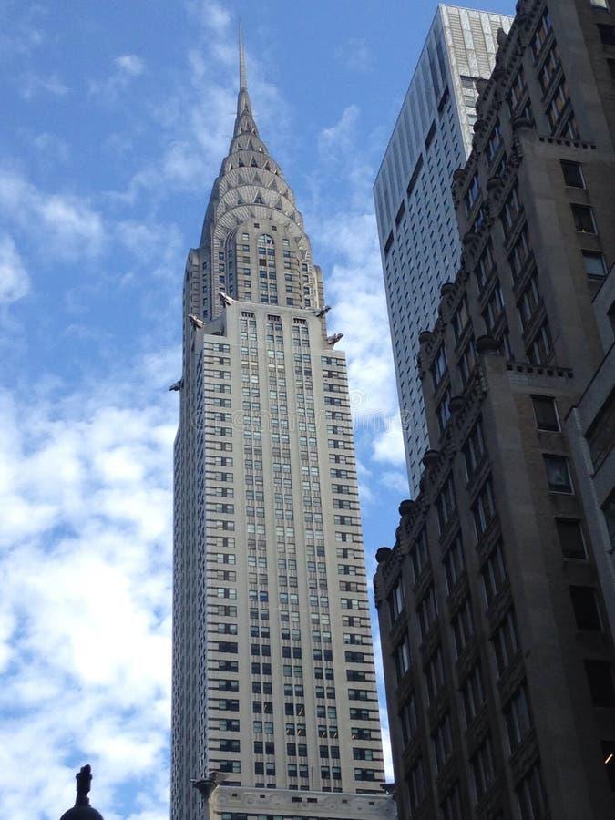 De bouw van Chrysler, New York stock afbeeldingen