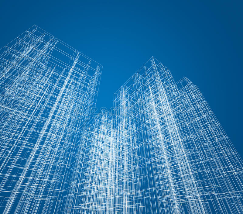 De bouw van de architectuur vector illustratie