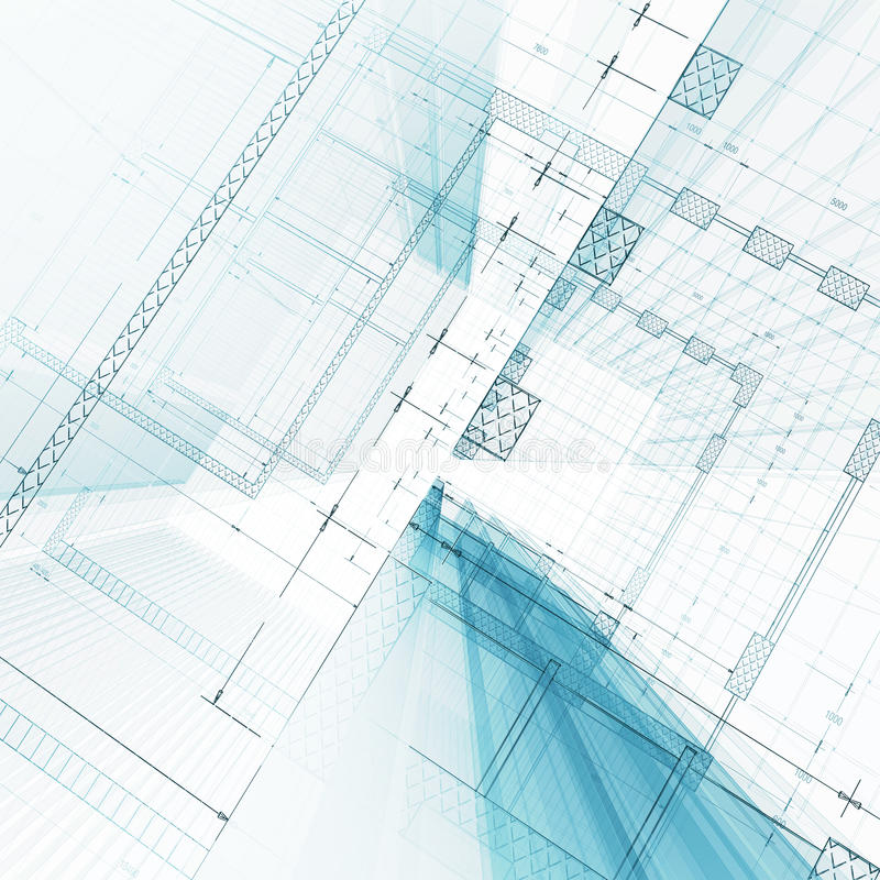 De bouw van de architectuur royalty-vrije illustratie