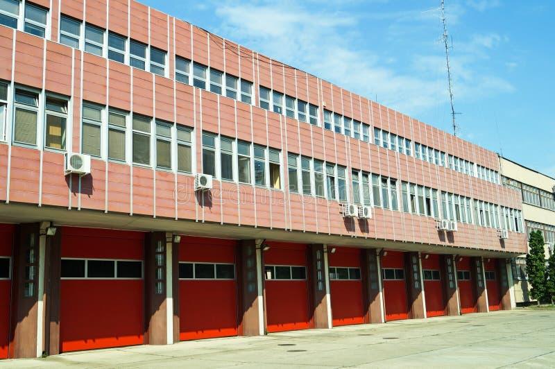 De bouw van de brandbestrijderspost royalty-vrije stock foto's