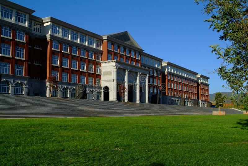 De bouw van de campus stock fotografie