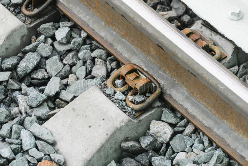 De bouw van de Centrale Spoorweg van spoorlijnmoskou stock afbeelding