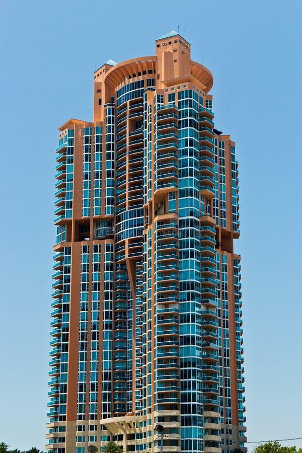De bouw van de de luxeflat van het zuidenstrand in Miami, Florida stock afbeeldingen