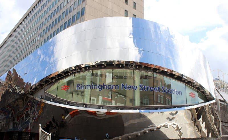 De bouw van de de Straatpost van Birmingham Nieuw teken royalty-vrije stock afbeeldingen
