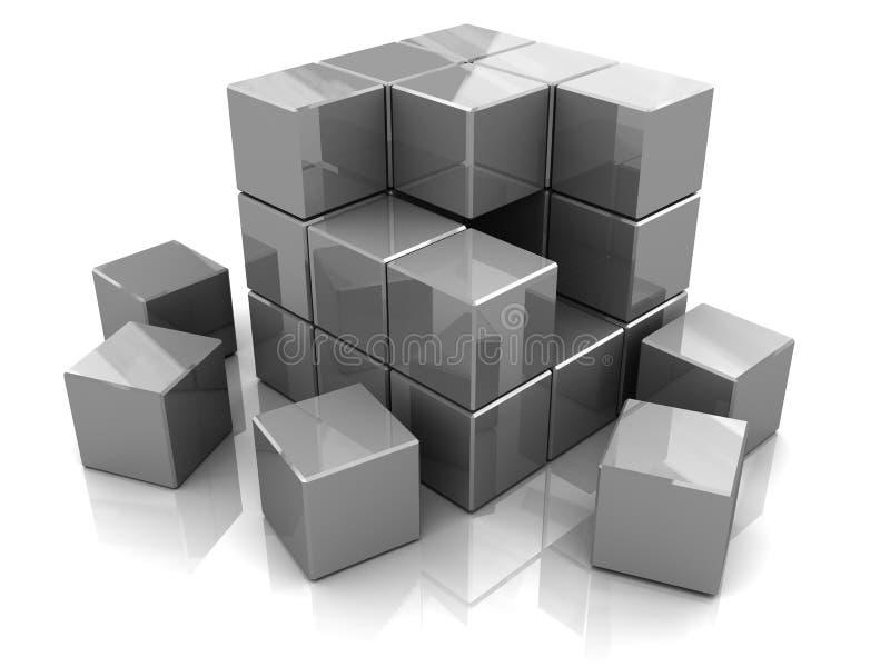 De bouw van de doos vector illustratie