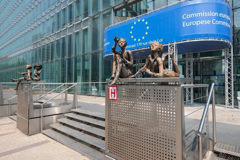 De bouw van de Europese Commissie in Brussel