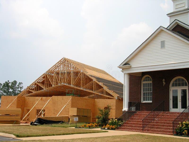 De bouw van de kerk stock foto