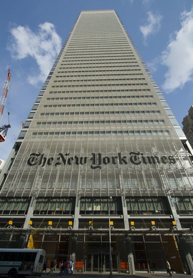 De Bouw van de New York Times royalty-vrije stock fotografie