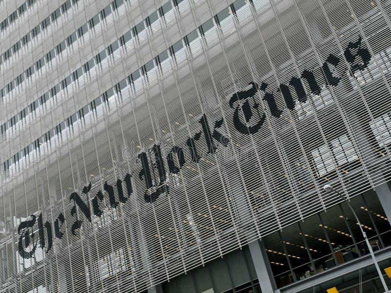 De Bouw van de New York Times royalty-vrije stock afbeeldingen