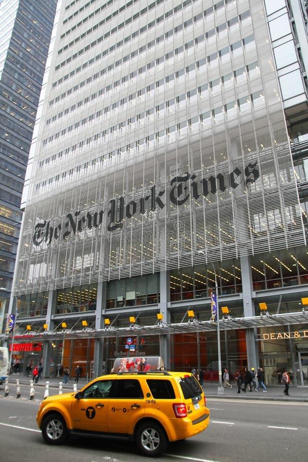De Bouw van de New York Times royalty-vrije stock foto