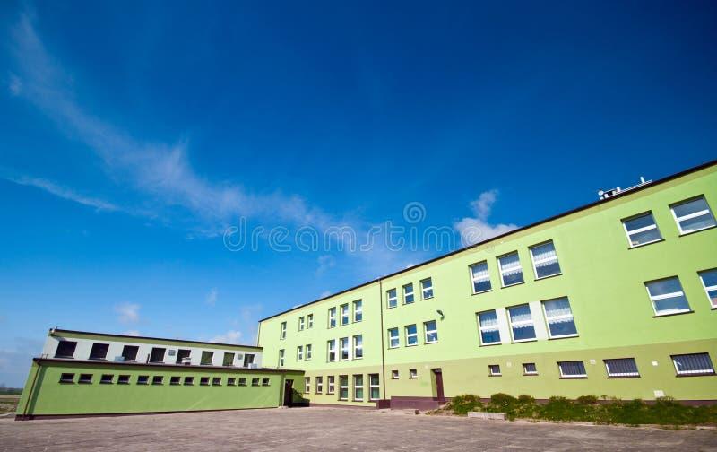 De bouw van de school stock fotografie