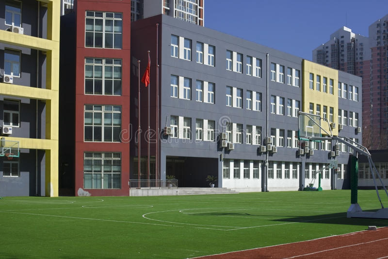 De bouw van de school royalty-vrije stock afbeeldingen