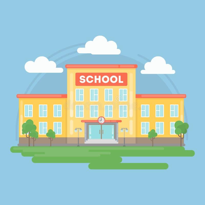 De bouw van de school royalty-vrije illustratie