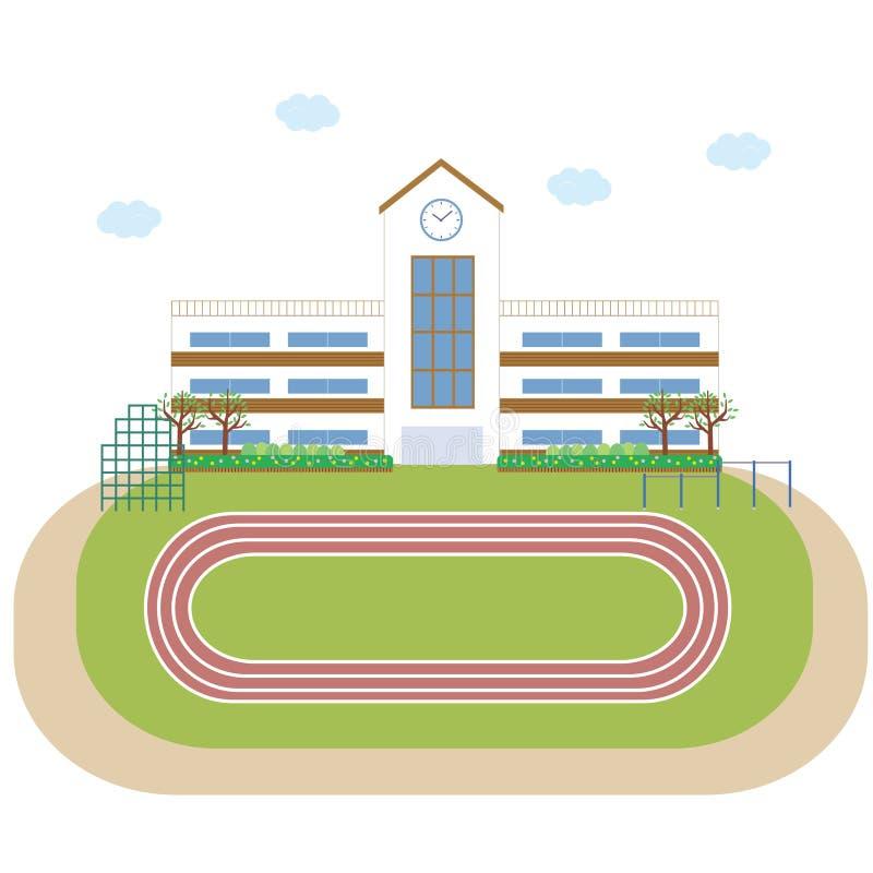 De bouw van de schoolschool de bouw vector illustratie