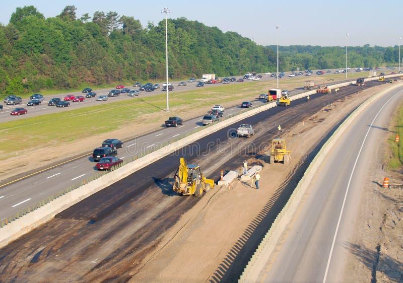 De bouw van de snelweg stock foto's
