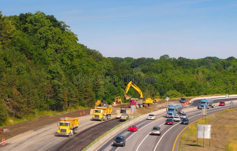 De bouw van de snelweg royalty-vrije stock foto