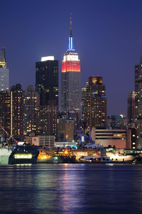 De Bouw van de Staat van het Imperium van de Stad van New York in Manhattan royalty-vrije stock foto